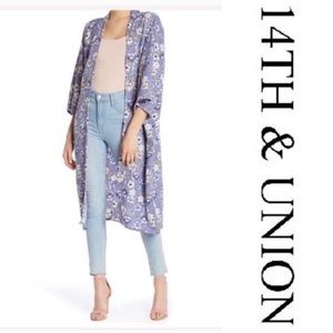 3 for $50 14th & Union Blue Floral Kimono One Size